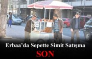 Erbaa'da Sepette Simit Satışına Karşı Uygulama