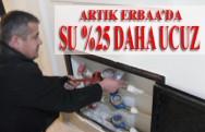 Artık Erbaa'da Su %25 Daha Ucuz