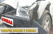 Erbaa'da Trafik Kazası Meynada Geldi 2 Yaralı
