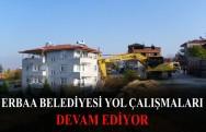 Erbaa Belediyesi Yol Çalışmaları Devam Ediyor