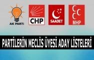 Partilerin Belediye Meclis Üyeleri Açıklandı