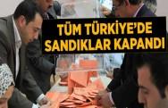Tüm Türkiye'de Oy Verme İşlemi Sona Erdi